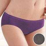 【華歌爾】竹炭纖維單品褲M-LL中腰高裾三角褲(竹炭灰)