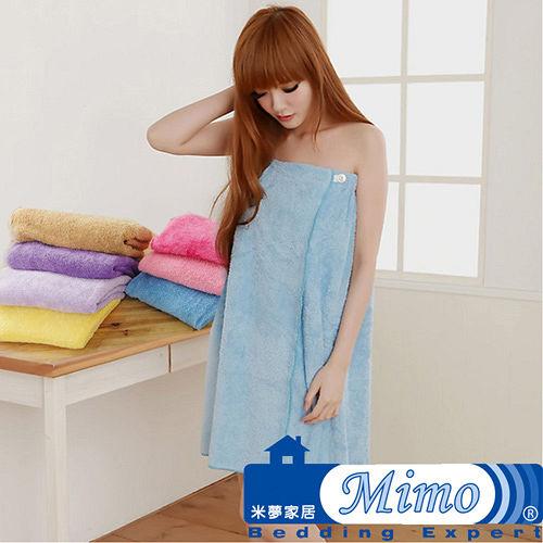 【米夢家居】水乾乾SUMEASY開纖吸水紗-浴裙(淺藍)