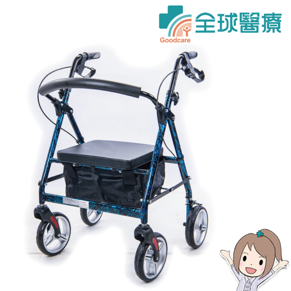 【全球醫療】均佳 機械式助行器(未滅菌) JK-005 鋁合金四輪助行車 一般型