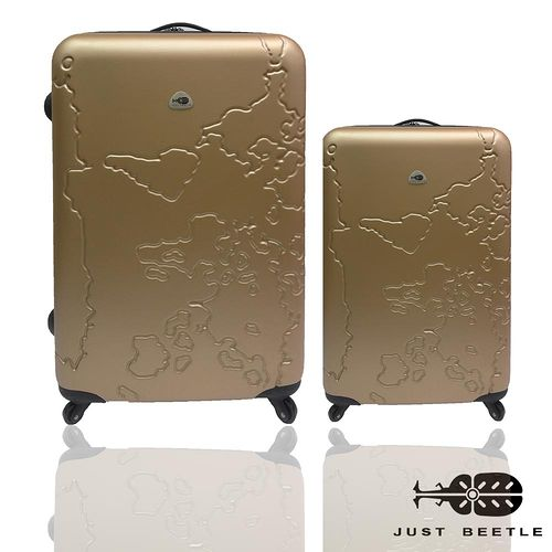 Just Beetle世界地圖系列經典輕硬殼行李箱28+20吋兩件組