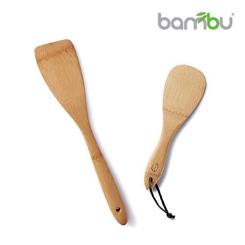 【Bambu】竹製飯匙-鍋鏟組 2件組