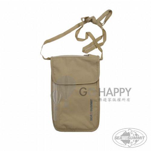 SEATOSUMMIT 旅行用頸掛式錢包(5袋口)(褐色)