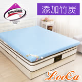 LooCa平面款釋壓8cm吸濕排汗記憶床墊-雙人