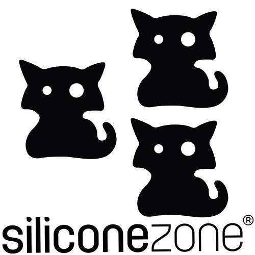 【Siliconezone】施理康Siconi環保矽膠任意貼三入-黑貓