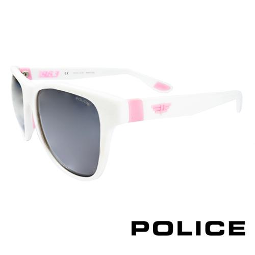 POLICE 義大利警察都會款個性型男眼鏡-膠框(粉紅色) POS1823G04AO