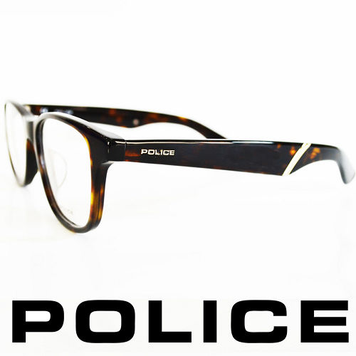 POLICE 義大利警察都會款個性型男眼鏡-膠框(黑) POV1792-0722