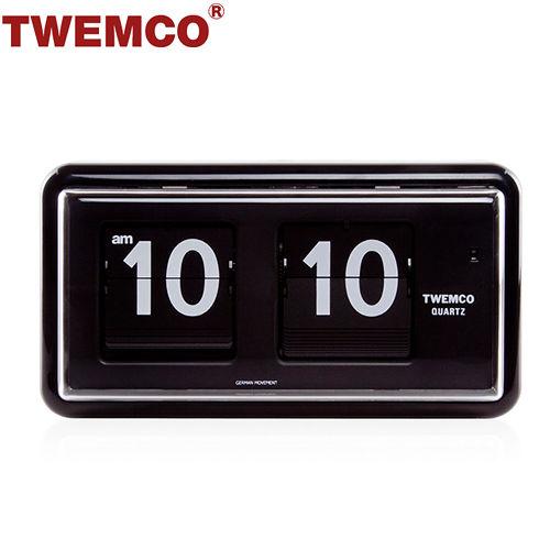 【TWEMCO】機械式 翻頁鐘 復古收藏 方形可壁掛及桌放 (QT-30 黑色)