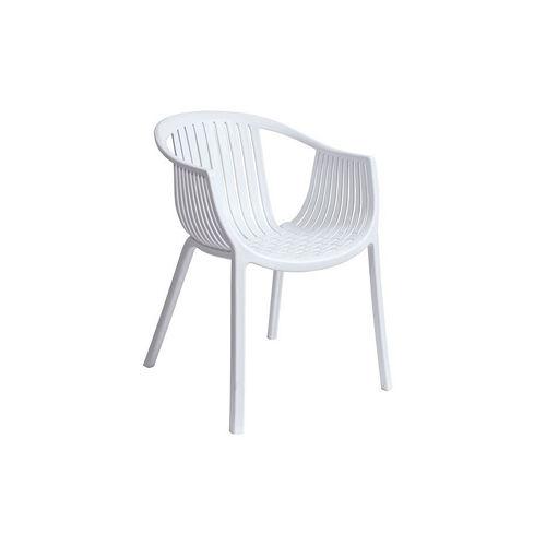 【空間生活】海絲特休閒椅(白)-兩入