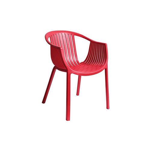 【空間生活】海絲特休閒椅(紅)-兩入