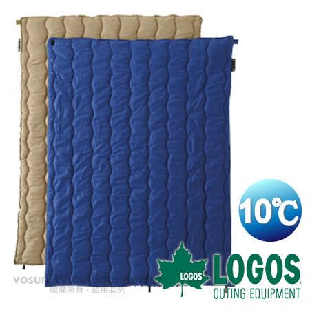 日本 LOGOS 2合1丸洗化纖睡袋組