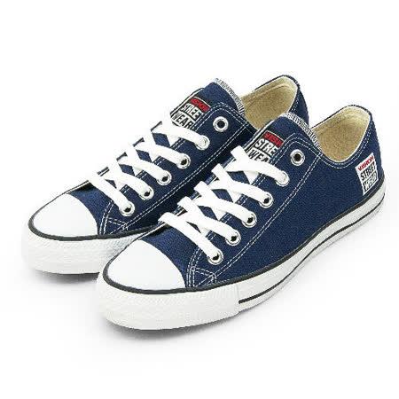 男 VISION STREET WEAR 經典帆布鞋 深藍 V22007 -friDay購物