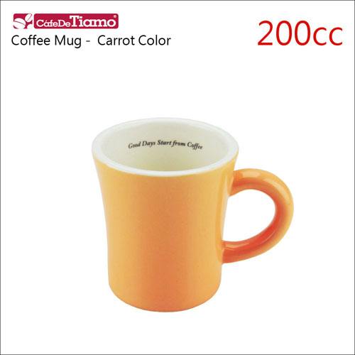 Tiamo 日本製夏日馬卡龍陶瓷馬克杯-200cc-胡蘿蔔色 (HG0724CR)