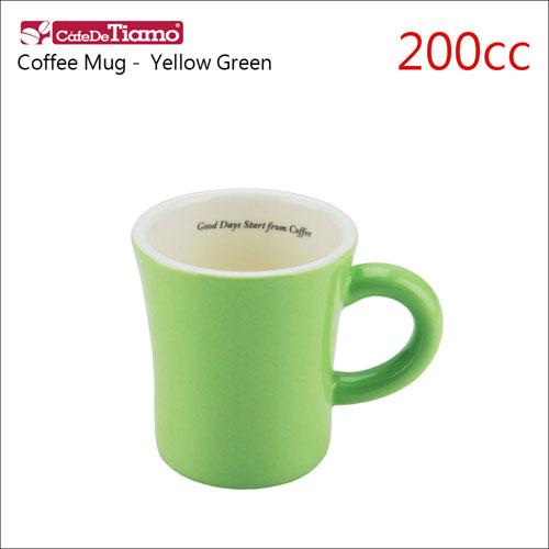 Tiamo 日本製夏日馬卡龍陶瓷馬克杯-200cc-淡黃綠色 (HG0724YG)