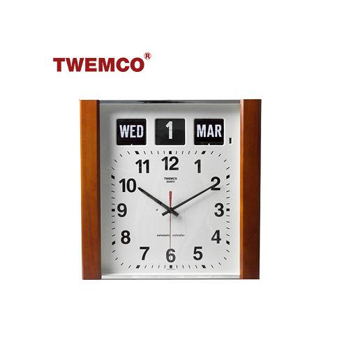 【TWEMCO】復古收藏 指針款萬年曆 造型翻頁鐘 英文日期 (BQ-15)