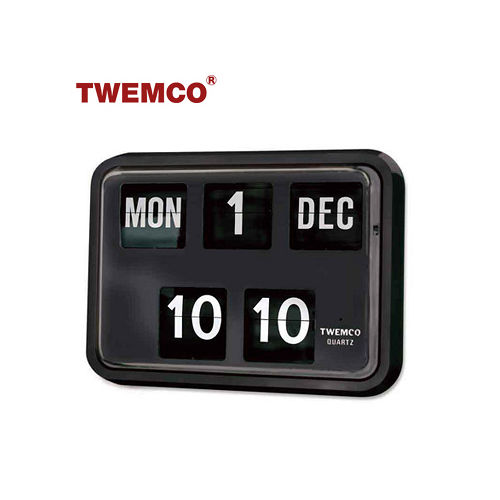 【TWEMCO】復古收藏 大數字翻頁鐘/掛鐘(BQ-17 英文日期)