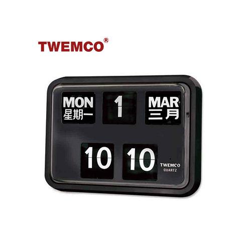 【TWEMCO】復古收藏 大數字翻頁鐘/掛鐘(BQ-17 中文日期)