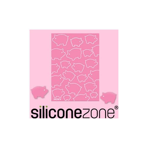 【Siliconezone】施理康Siconi環保矽膠任意桌貼布-粉紅豬