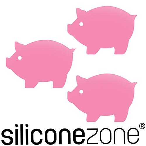 【Siliconezone】施理康Siconi環保矽膠任意貼三入-粉紅豬