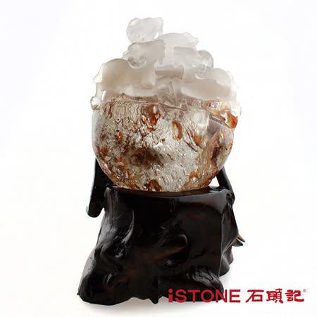 石頭記  納財聚寶水晶球-三陽開泰
