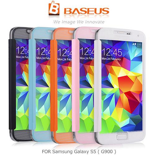 BASEUS 倍思 Samsung Galaxy S5 G900 玻衣皮套
