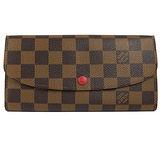 Louis Vuitton LV N63544 EMILIE 棋盤格紋扣式拉鍊零錢長夾 現貨