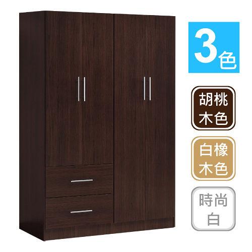大容量收納 簡約四門二抽衣櫃