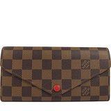 Louis Vuitton LV N63543 JOSEPHINE 棋盤格紋三折活動零錢長夾.紅 預購