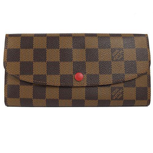Louis Vuitton LV N63544 EMILIE 棋盤格紋扣式拉鍊零錢長夾_預購