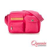 DF Queenin R兔 - 日系設計輕質感休閒機能款側背包-櫻花桃