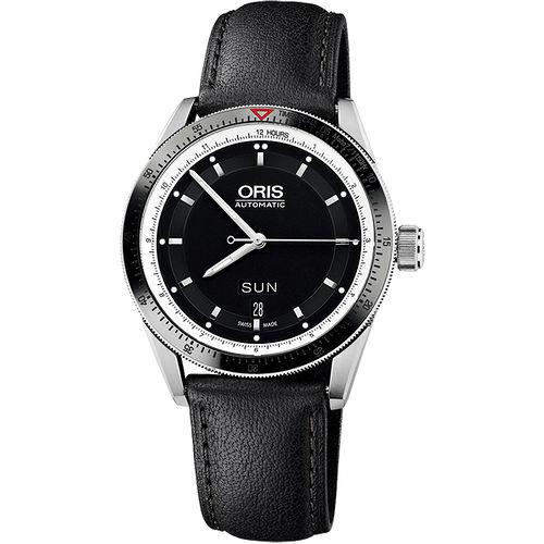 Oris Artix GT 單向轉圈機械腕錶 735.7662.41.54LS ~黑 皮帶