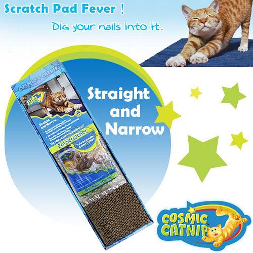 Cosmi Catnip《宇宙貓》平面型貓抓板(小)DT-11521 內附貓草包