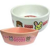 《GOODS》小動物專用陶瓷食碗‧2種造型