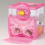 日本品牌MARUKAN》鼠鼠飼育套房鼠籠(MR-258)附滾輪巢穴廁所水瓶