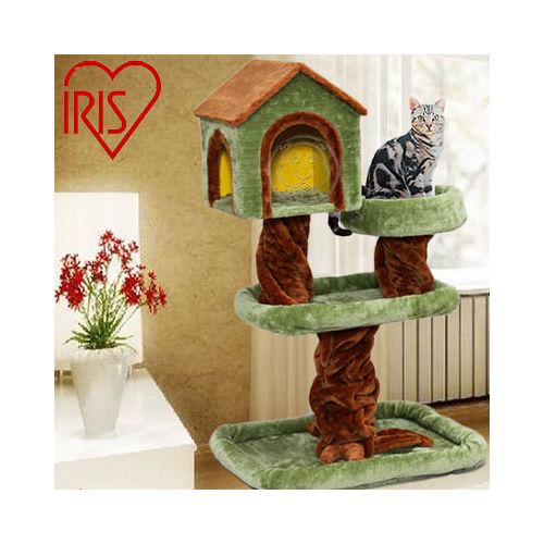 日本 IRIS《樹屋款三階貓跳台貓座》QQ大貓台【IR-CLF-5】送貓草粉