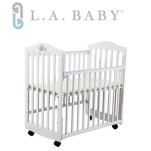 L.A. Baby 美國加州貝比 蒙特維爾美夢熊嬰兒小床/木床/原木床(白色)