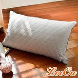 【LooCa】可水洗抗菌竹炭棉枕(1入)