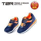 【韓國T2R】NEW玩色時尚8公分真皮氣墊增高鞋 藍 5600-0101