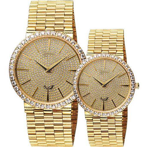 Ogival 滿天星晶鑽經典對錶-金 377MK+377LK