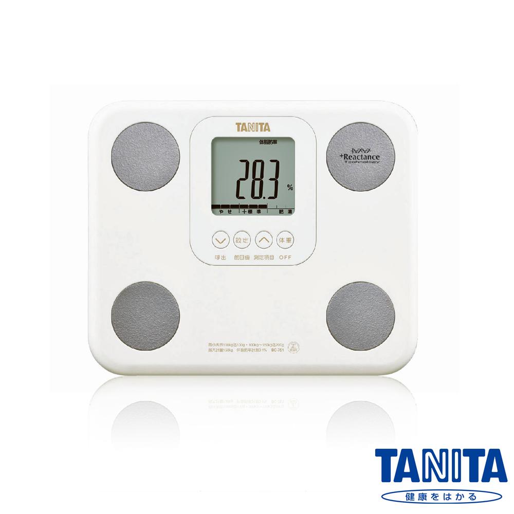 日本TANITA 七合一羽量輕巧體組成計BC751-珍珠白