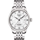 TISSOT Le Locle Double Happiness囍字機械腕錶-銀 T41183350