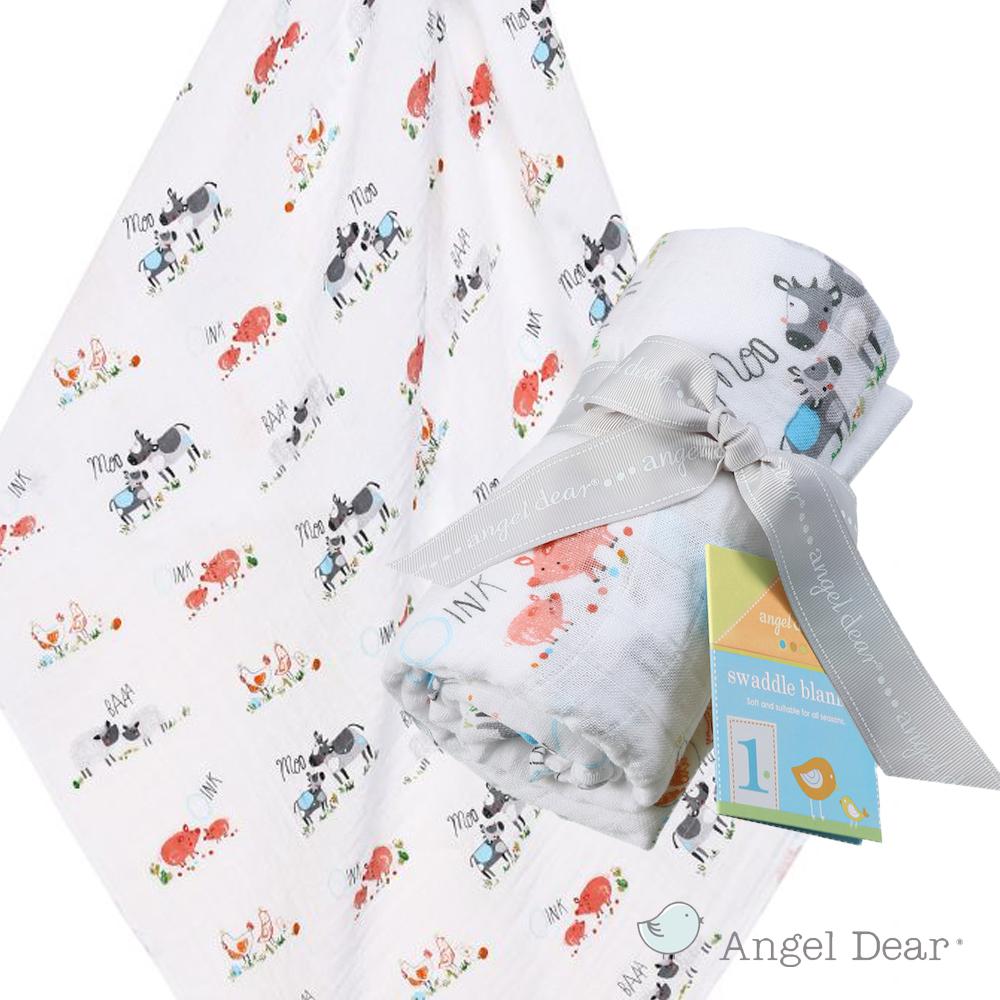 美國 ANGEL DEAR 竹纖維嬰幼兒包巾 (動物農場)