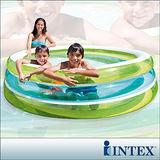 【INTEX】圓型三層透明戲水游泳池/充氣泳池/戲水池 (57489)