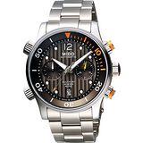 MIDO Multifort 先鋒系列60小時動力潛水計時機械腕錶- M0059141106000