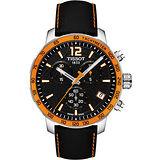 TISSOT 2014 FIBA 籃球世界盃限量版腕錶-黑x橘框 T0954171605700