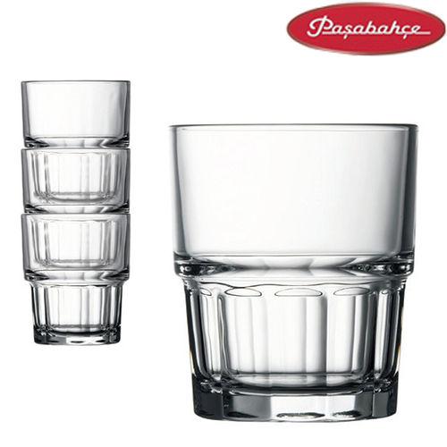 土耳其Pasabahce強化可疊式水杯200cc-12入組