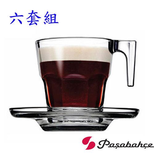 土耳其Pasabahce濃縮咖啡杯盤75cc-六套組