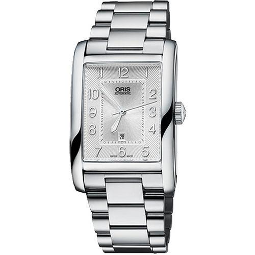 ORIS Rectangular 藝術時尚家機械腕錶-銀 0156176934061-0782220