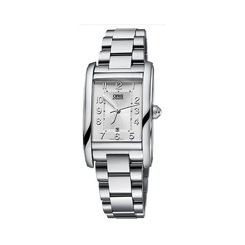 ORIS Rectangular 藝術時尚家機械女錶-銀 0156176924061-0781820
