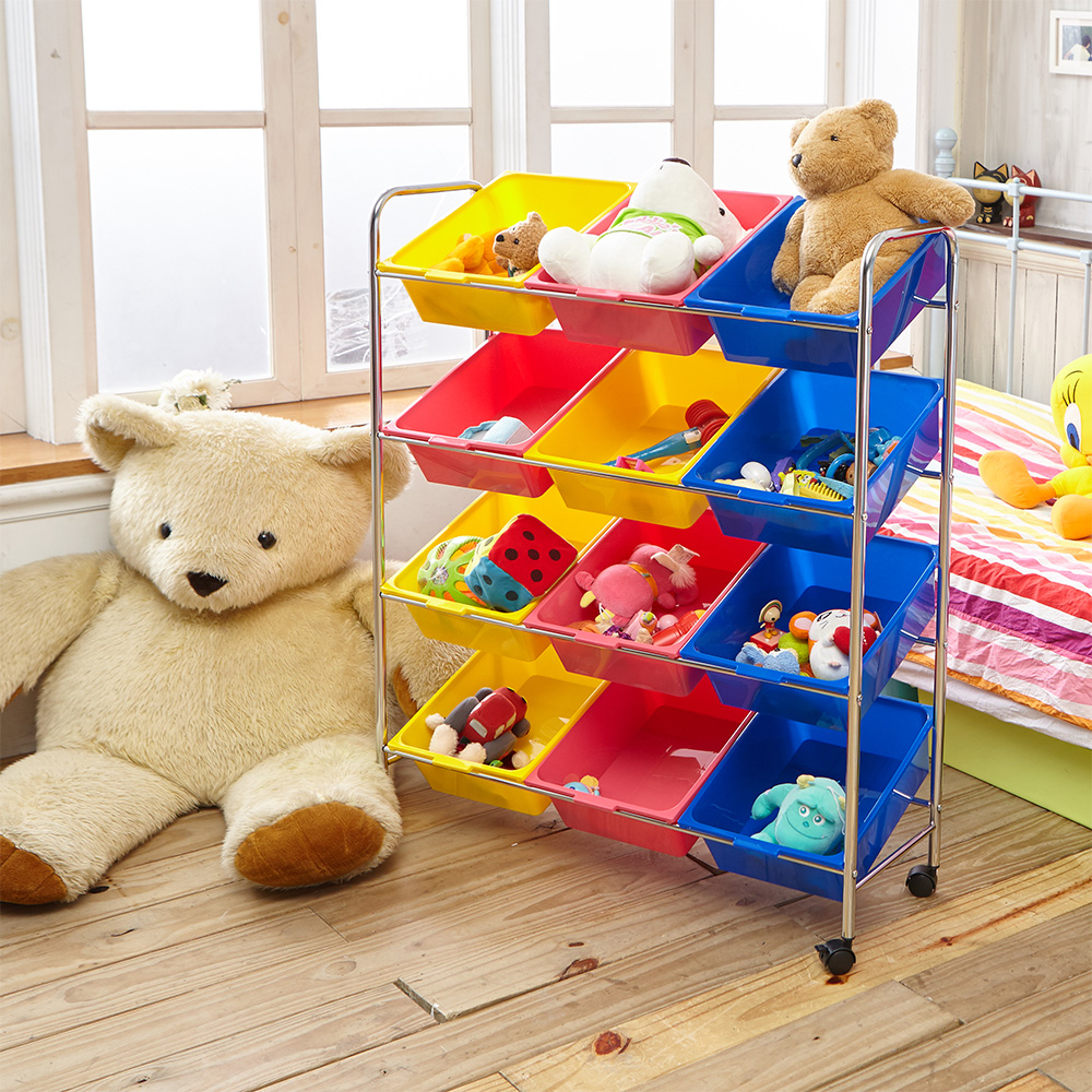 ikloo宜酷屋 可移式玩具收納車