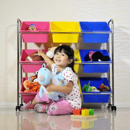 ikloo 可移式9格玩具收納組